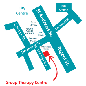 Group Therapy Cambridge Map